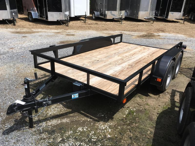 2017 Other 76x12 tandem utility no gate with brake Utility Trailer