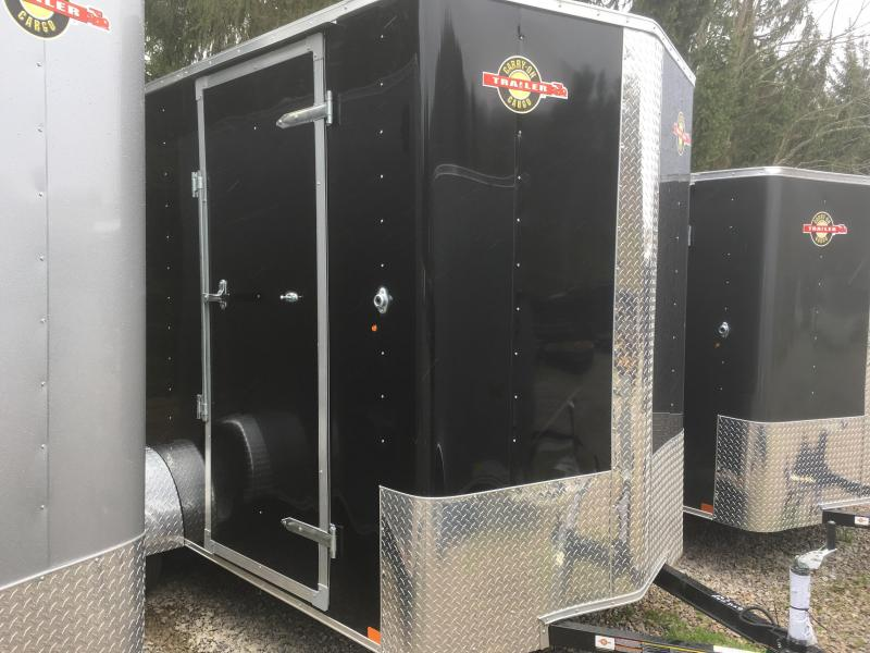 """2017 Carry-On 6X12 Bull Nose 12""""extra ht Ramp Door  Enclosed Cargo Trailer"""