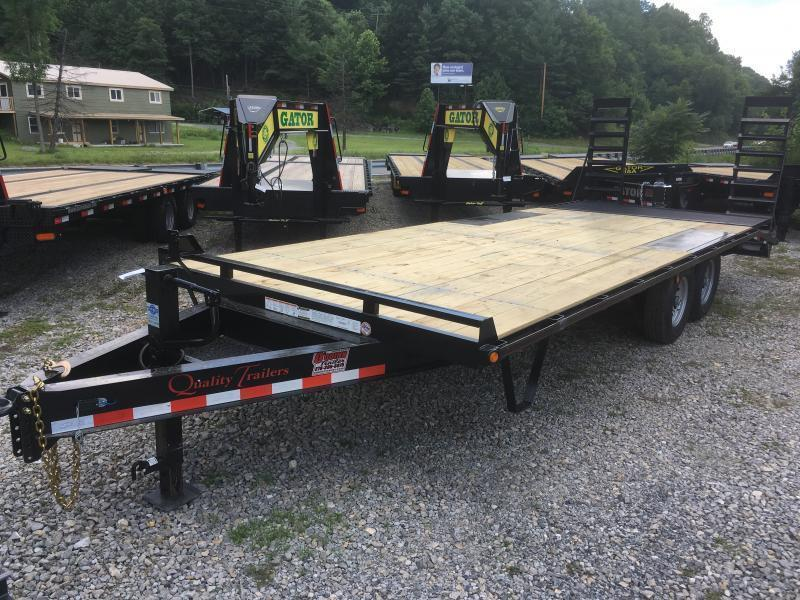 2020 Quality Trailers 22ft 7ton Pop up dove Deckover Bumper pull Equipment Trailer