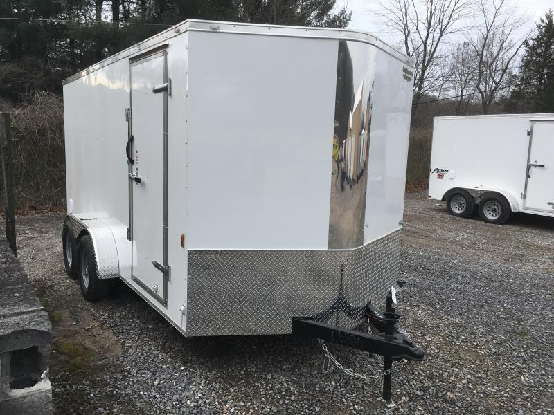 2018 Continental Cargo 7x14 vnose sd ramp door Enclosed Cargo Trailer