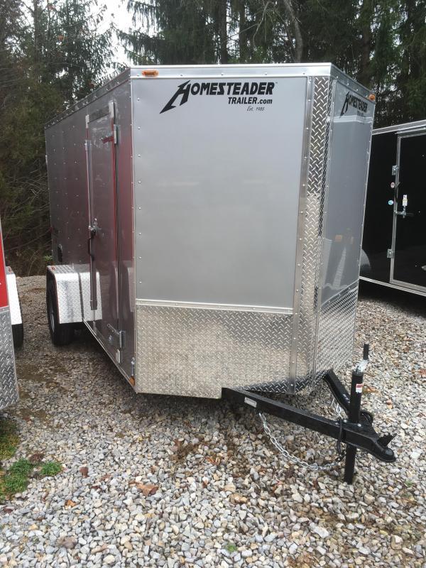 2018 Homesteader Inc. 6x12 patriot double door single axle Enclosed Cargo Trailer
