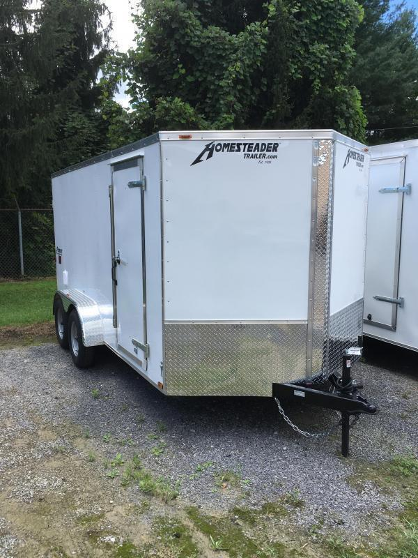 2020 Homesteader 7x14 Intrepid tandem axle sd double door Enclosed Cargo Trailer