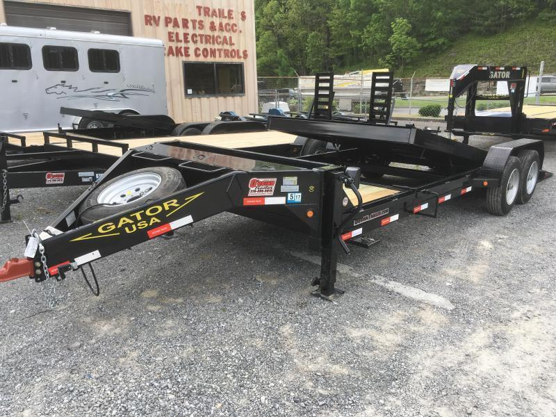 2019 Gatormade Trailers 17600GVWR Aardvark Tilt 24ft Equipment Trailer