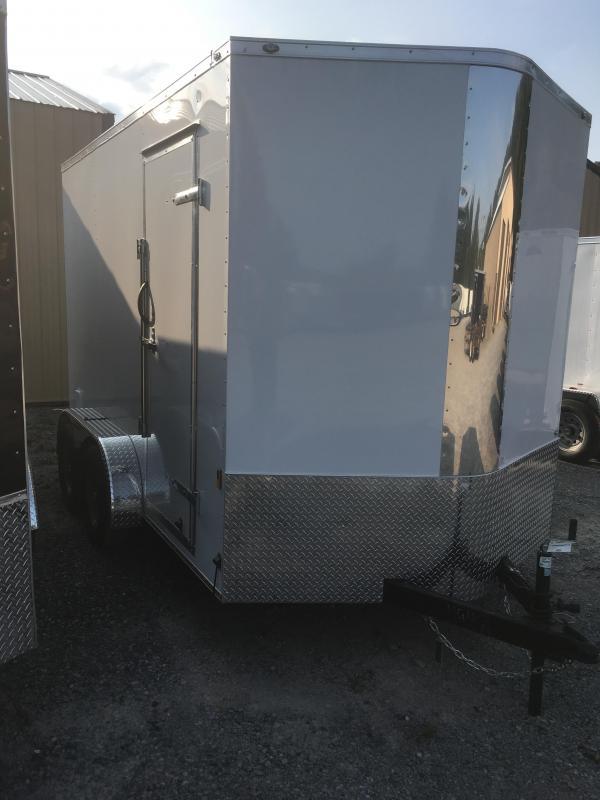 "2018 Continental Cargo 7x12 vnose ramp door 12"" extra ht Enclosed Cargo Trailer"