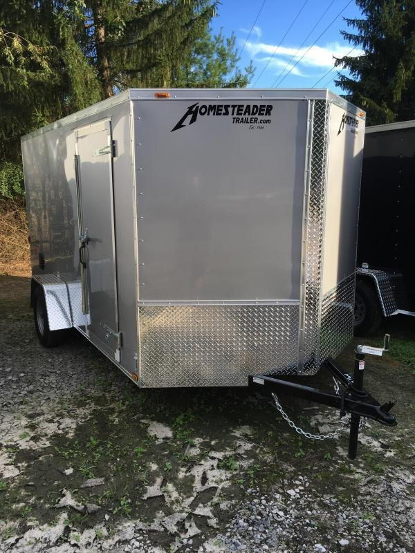 2019 Homesteader 7x12 patriot ramp door single axle Enclosed Cargo Trailer