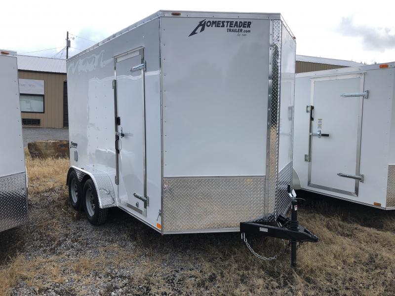 2020 Homesteader 7x12 Intrepid tandem 12in extra ht sd ramp Enclosed Cargo Trailer