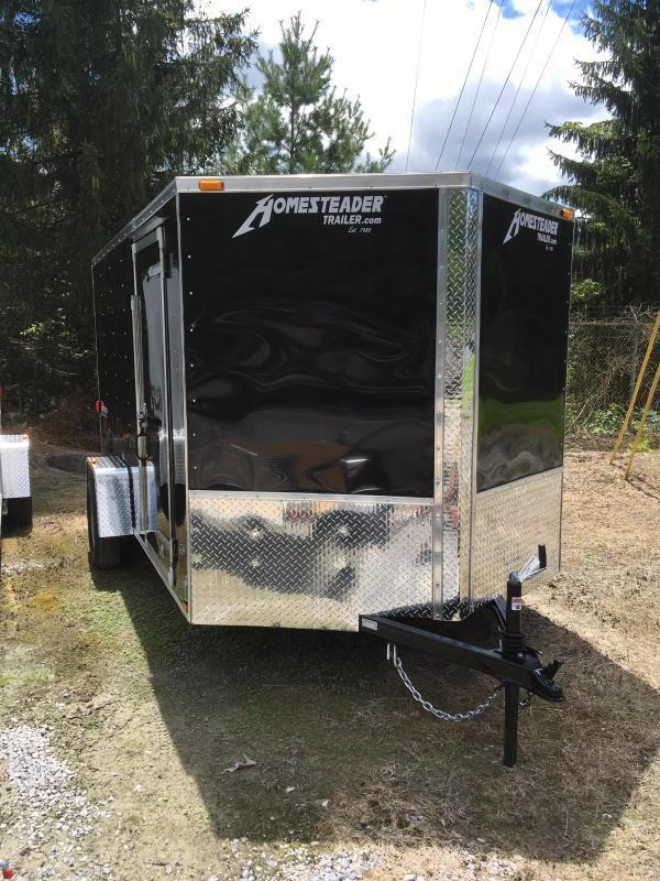 2019 Homesteader 7x12 Intrepid single axle sd ramp door Enclosed Cargo Trailer