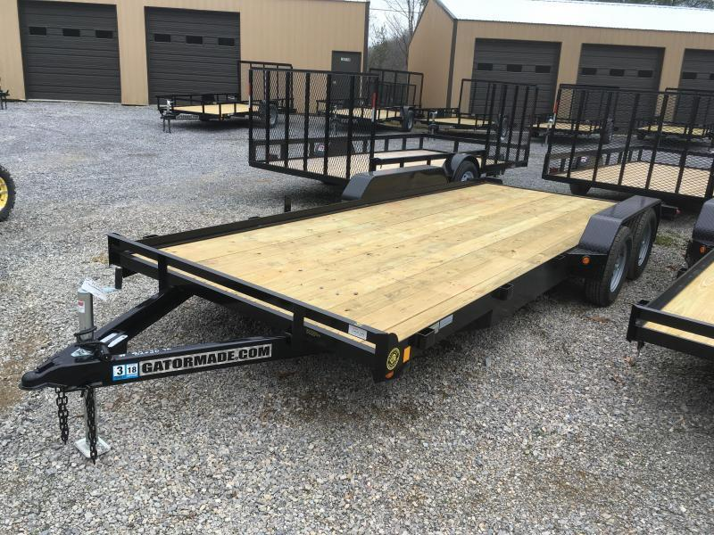 2019 Gatormade Trailers 20ft dovetail wood car hauler Car / Racing Trailer