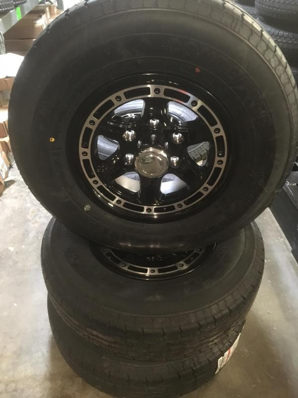 "6lug 15"" aluminum wheel and tire"