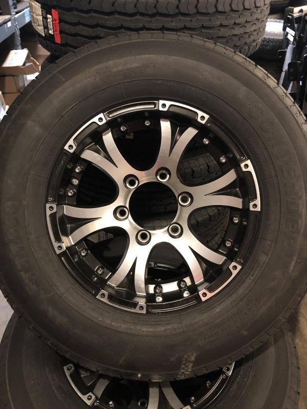 """6lug 15"""" aluminum wheel and tire"""