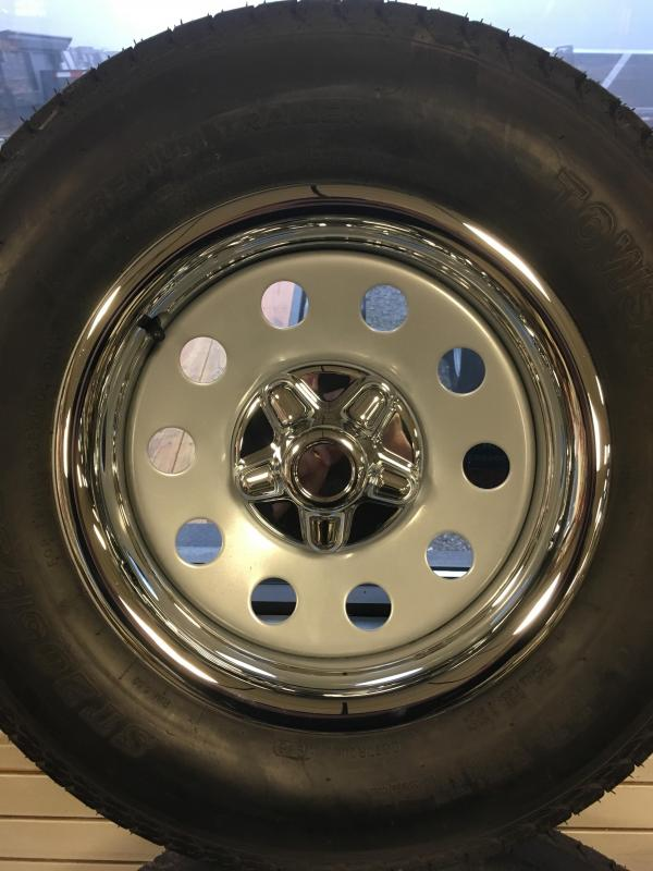 "Chrome Rings and Centers for 15"" 5 Lug wheels"