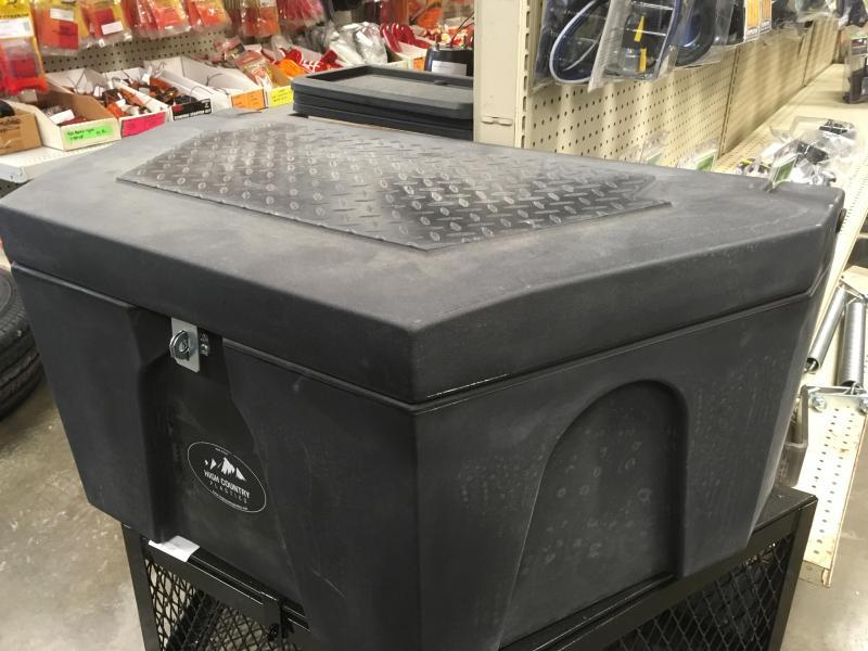 Plastic a-frame tongue toolbox