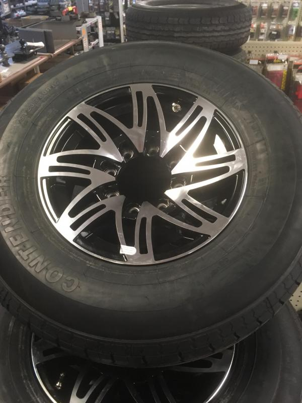 "8lug 16"" aluminum wheel and tire"