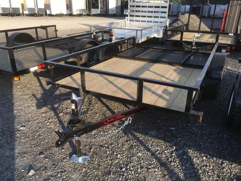 2020 Quality Trailers 76x10 single axle w/gate Utility Trailer