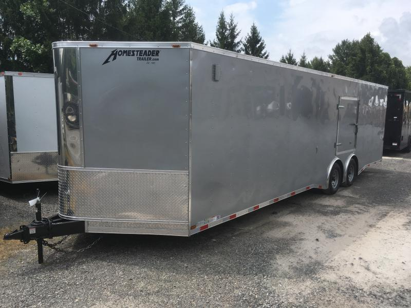 2019 Homesteader 8.5x28 ChampionSGT 5 ton spread axle escape door car hauler Enclosed Cargo Trailer