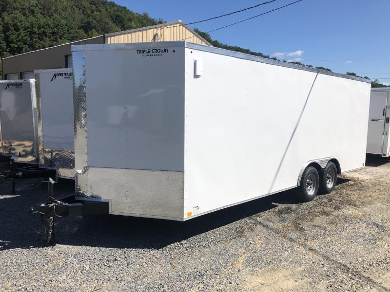2019 Triple Crown Cargo 8.5x20 3 1/2 ton car hauler Enclosed Cargo Trailer