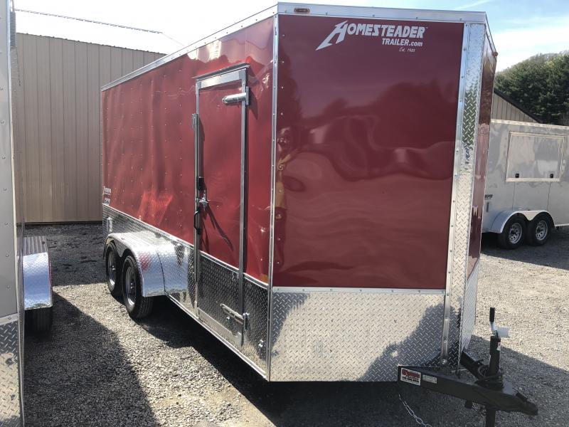 2019 Homesteader 7x16 Intrepid sd ramp OHV pkg 1ft extra height Enclosed Cargo Trailer