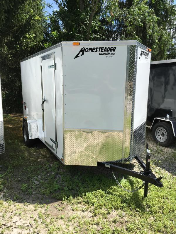 2018 Homesteader Inc. 6x12 patriot single axle ramp Enclosed Cargo Trailer