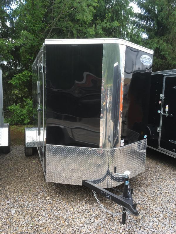 "2018 Continental Cargo 6x12 V-Nose 6""extra ht Side Door Ramp Door Enclosed Cargo Trailer"