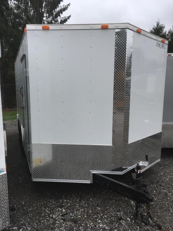 "2018 Cynergy 8.5X16 6"" extra ht Vnose ramp door Enclosed Cargo Trailer"