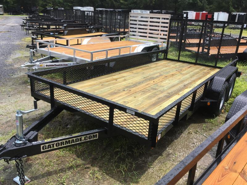 2019 Gatormade Trailers 82X16 UTILITY 1FT MESH SIDES Utility Trailer