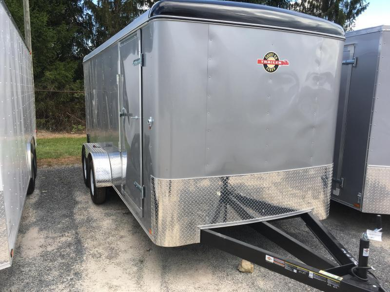 2017 Carry-On 7x16 Round Top Ramp Door Silver Enclosed Cargo Trailer