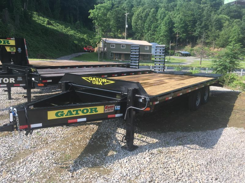 2018 Gatormade Trailers 21ft 7ton deckover Goliath Ramps bumper pull Equipment Trailer