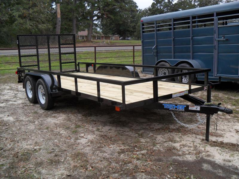 2019 Top Hat Trailers 16 x 77 tandem axle Utility Trailer
