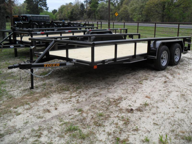 2019 Tiger 16 x 83 Pipe Top Utility Trailer