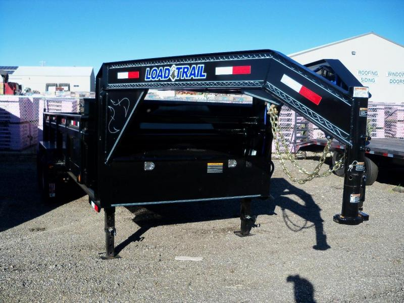 14x083 Load Trail Black Gooseneck Dump Trailer GD8314072SS