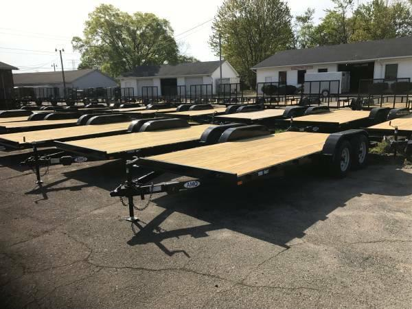 18ft Wood Deck Car Hauler Trailer w/ 1 Axle Brake *2018 Model Discount*