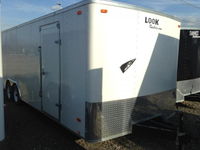 8x24 LOOK Enclosed Car Hauler Trailer (10K)