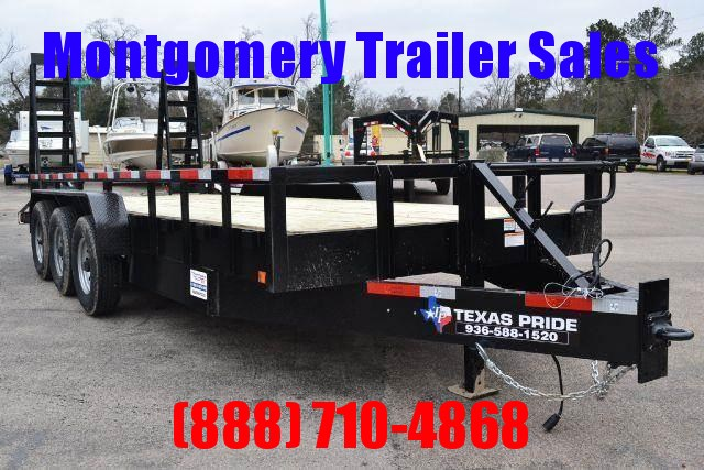 2018 TEXAS PRIDE Lowboy Equipment Trailer 21K Bumper Pull