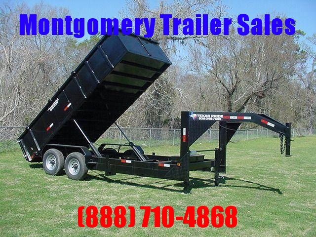 2018 TEXAS PRIDE 7' by 16' DUMP TRAILER GOOSENECK