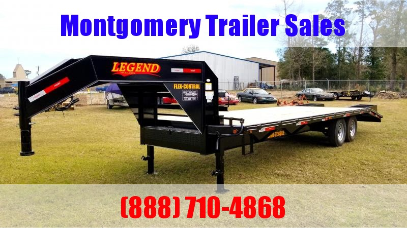 2019 Legend Flatbed Gooseneck Trailers 25 14K Tandem Flatbed Trailer