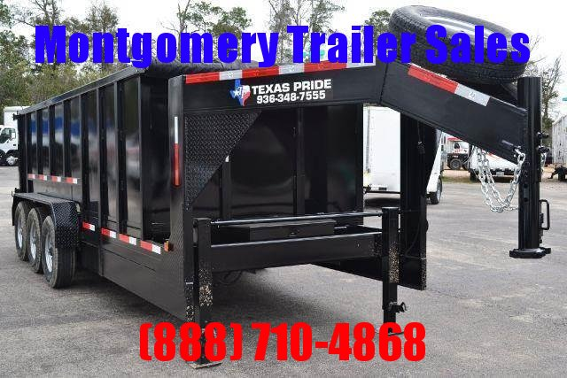 2018 TEXAS PRIDE 7' by 20' DUMP TRAILER GOOSENECK