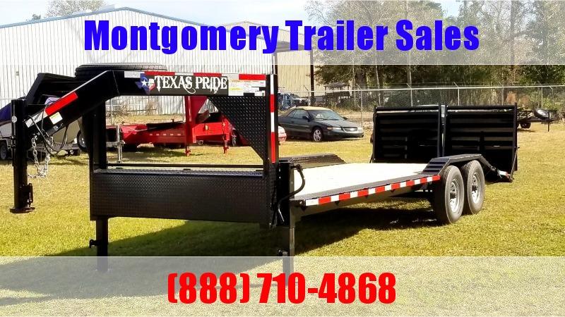 2019 Texas Pride Trailers 24 Gooseneck Lowboy Equipment Trailer