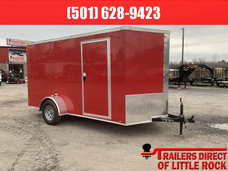 2018 Doolittle Trailer Mfg Razorback 6x12SA Red Ramp Door Enclosed Cargo Trailer