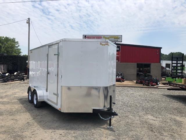 2019 Doolittle Trailer Mfg Doolittle 7x14 White Ramp Door Enclosed Cargo Trailer