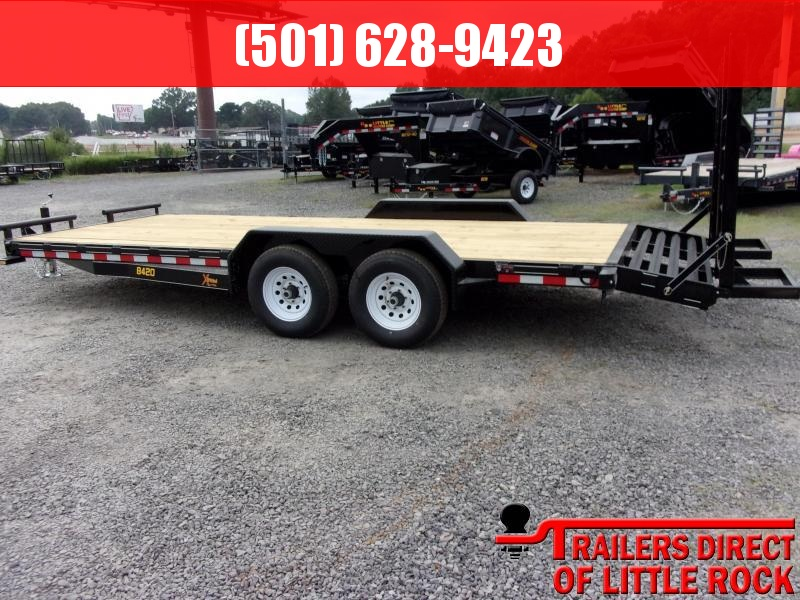 2019 Doolittle Trailer Mfg Xtreme 84x20 9800LB Flip Up Ramps Equipment Trailer