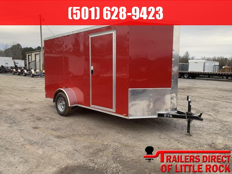 2019 Doolittle Trailer Mfg Razorback 6x12SA Red Barn Door Enclosed Cargo Trailer