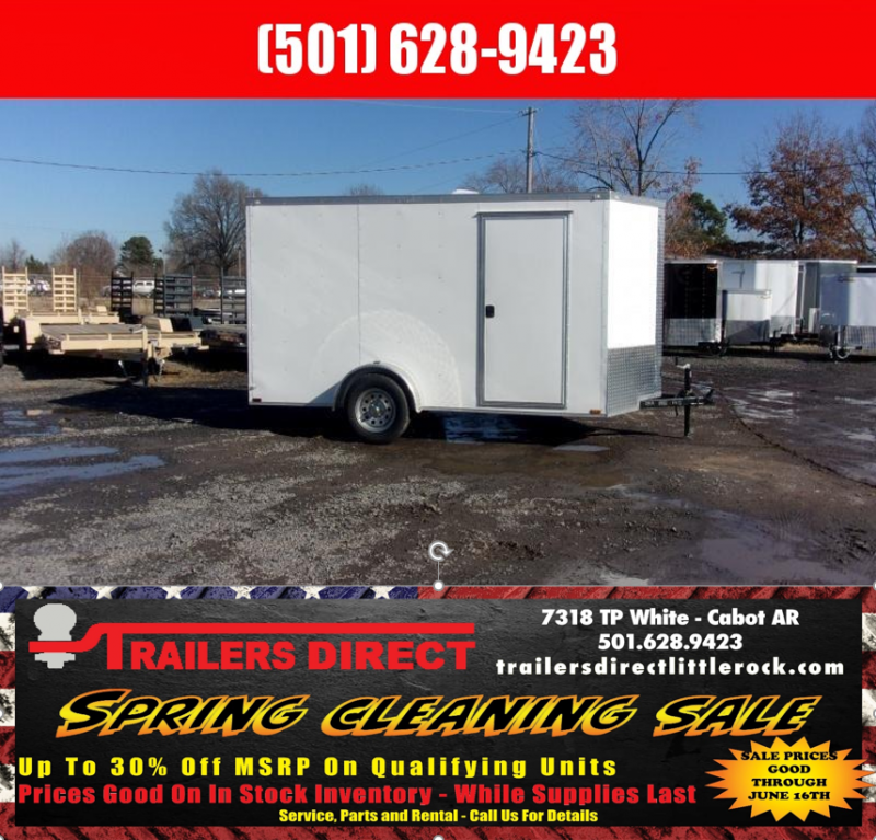RED TAG SALES EVENT!! 2018 Doolittle Trailer Mfg Razorback 6x12SA White Ramp Door Enclosed Cargo Trailer