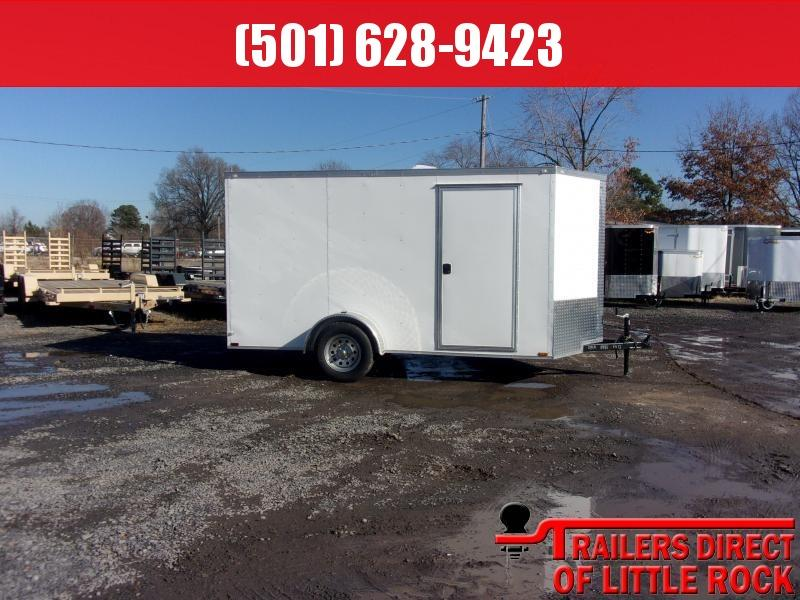2019 Doolittle Trailer Mfg Razorback 6x12SA White Ramp Door Enclosed Cargo Trailer