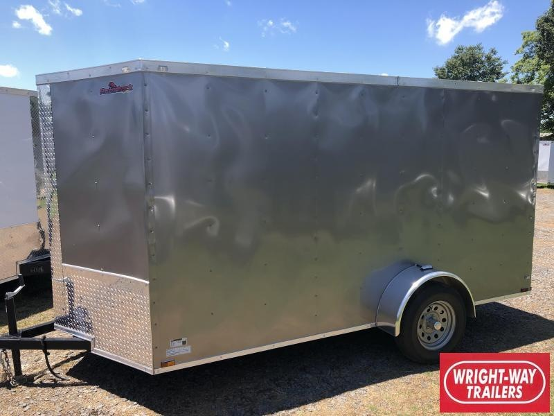2019 Doolittle Trailer Mfg Razorback 6x12SA Pewter Ramp Door Enclosed Cargo Trailer