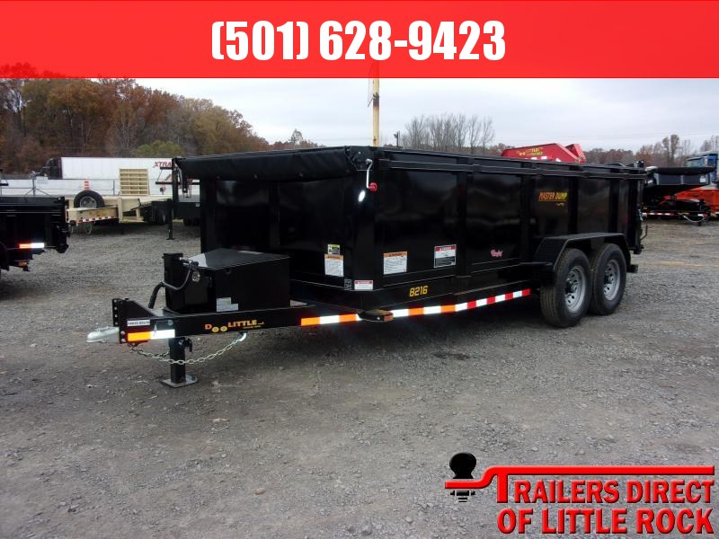 "2018 Doolittle Trailer Mfg Master Dump 82x16 14k 36"" High Side Dump Trailer"
