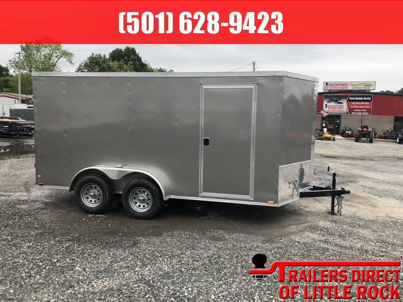 2019 Doolittle Trailer Mfg 2019 DOOLITTLE RAZORBACK 7X14TA Pewter Barn Door Enclosed Cargo Trailer