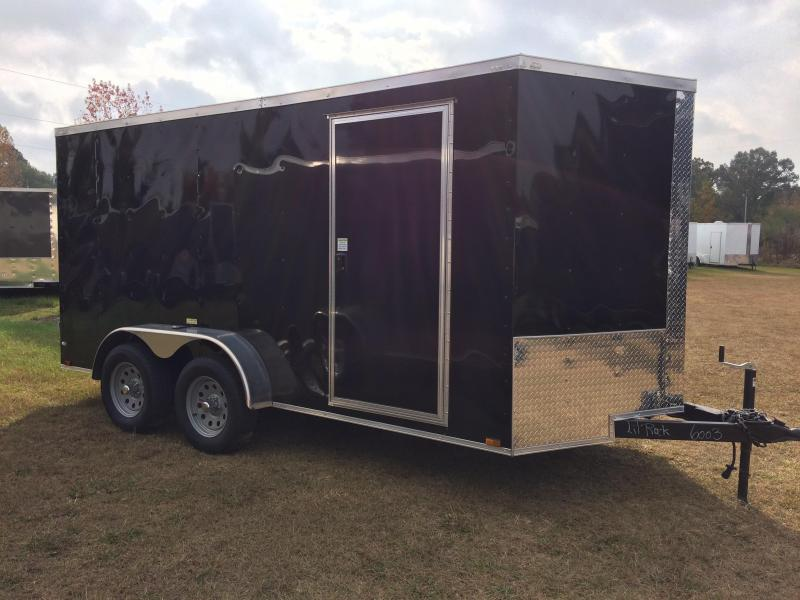 2018 Quality Cargo 7X14TA BLACK BARN DOOR