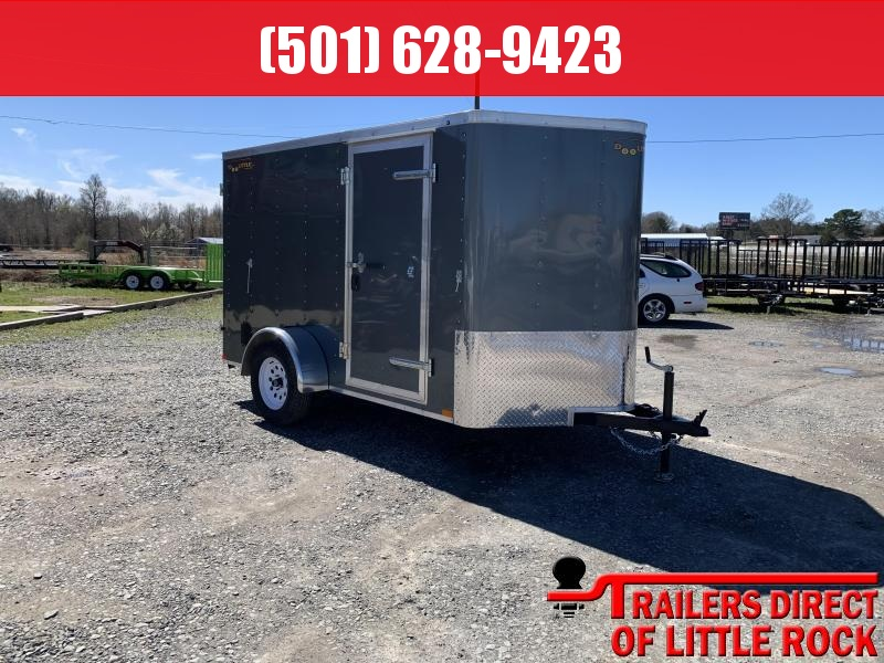 2019 Doolittle Trailer Mfg 6x10SA Gray Ramp Door Enclosed Cargo Trailer