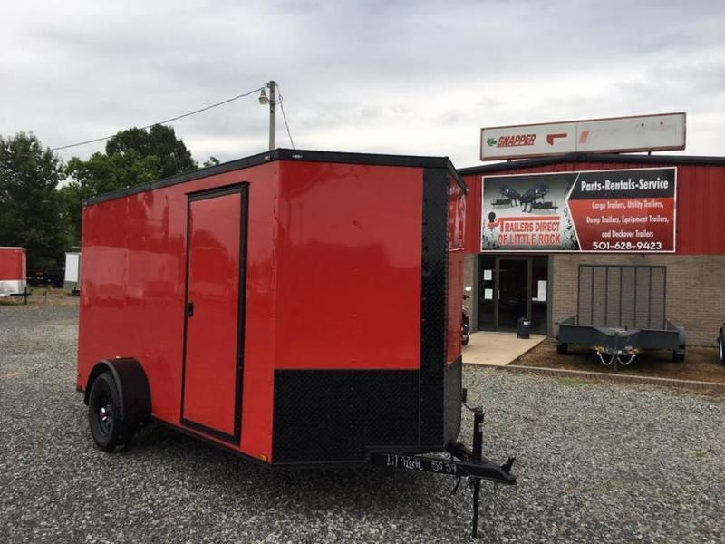 2017 Quality Trailers 6X12SA BLACKOUT RED RAMP DOOR