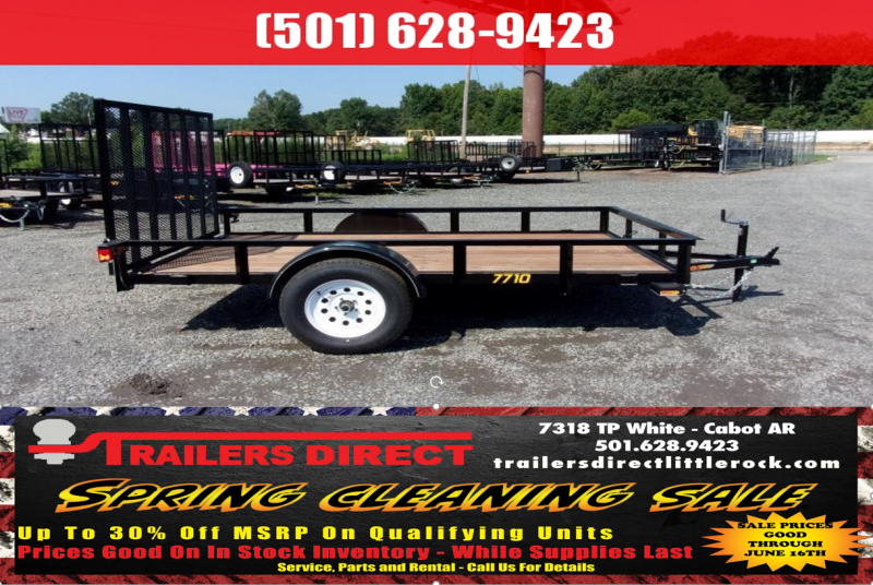 BLOWOUT!! 2018 Doolittle Trailers Rally Sport 770 Series 77x10 2990 lbs